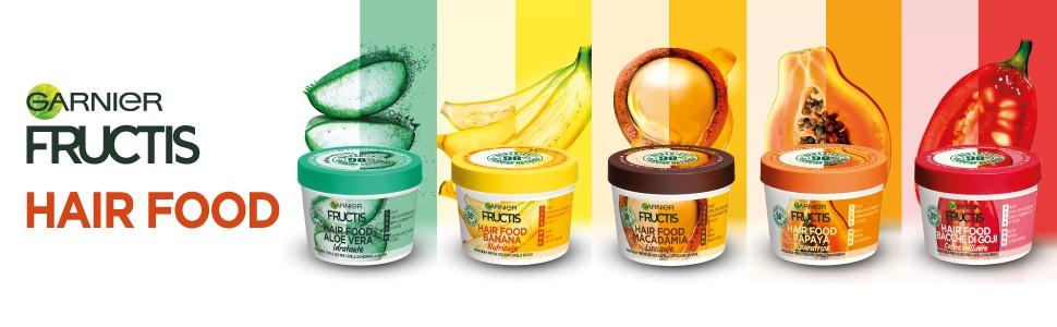 Hair Food, Aloe, Fructis, Garnier, Aloe Vera, Maschera capelli idratante, trattamento capelli