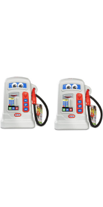 Little Tikes Pretend Play Cozy Pumper Toy Gas Station with Sounds, Grey (2 Pack)