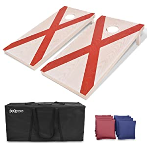 gosports cornhole bean bags toss game kids adults tailgate family fun yard games foldable boards