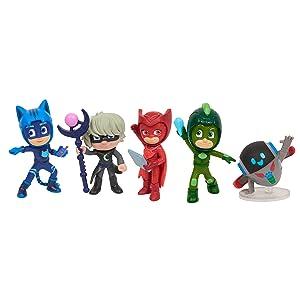 PJ Masks figure packs, super moon adventures characters, catboy, owlette, gekko,
