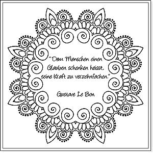 Malbuch Für Erwachsene Mandala Kränze Und Zitate Die