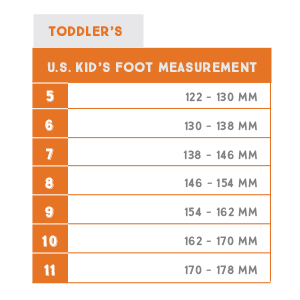 northside sizing chart for toddlers