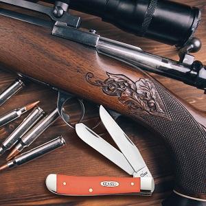 case knives, case knife, pocket knife, folding knife, trapper knife, case trapper, orange trapper