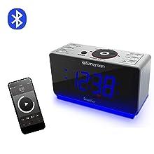 bluetooth clock radio wireless iphone android college dorm clock