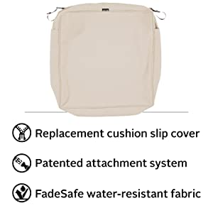 Montlake FadeSafe Patio Chair Seat Cushion Slip Cover