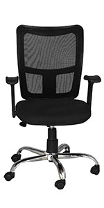 High Living High-Back Executive Office Chair   Desk Chair - Black SPN FOR1