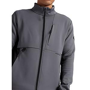 burton light mens fleece zip up versatile hood move active sweat wicking dryride comfort to and from