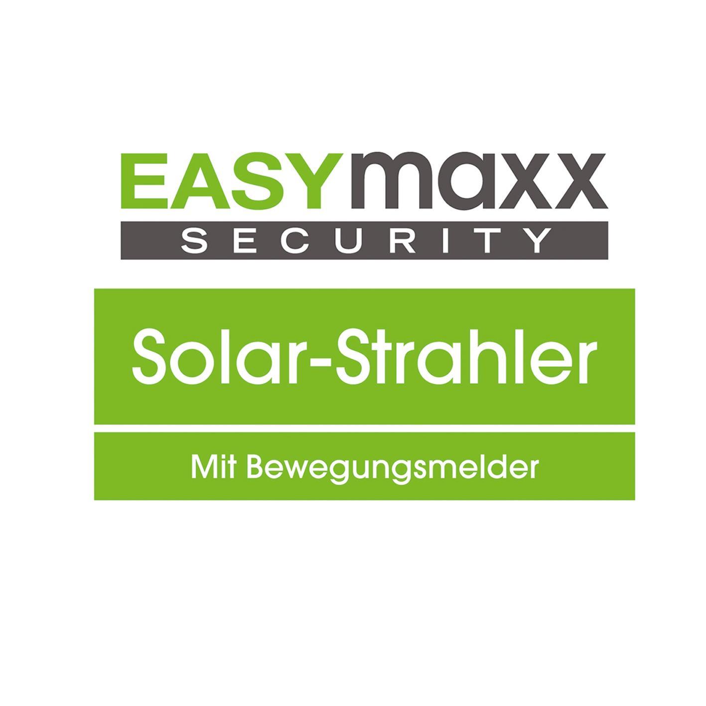 easymaxx 06839 solar strahler security plus led solarstrahler mit bewegungsmelder und. Black Bedroom Furniture Sets. Home Design Ideas