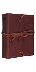 ESV Single Column Journaling Bible, Large Print, Natural Leather, Brown, Flap with Strap