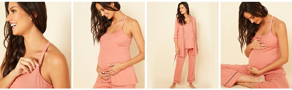 Cosabella Womens Bella Maternity 3//4 Shirt Pj