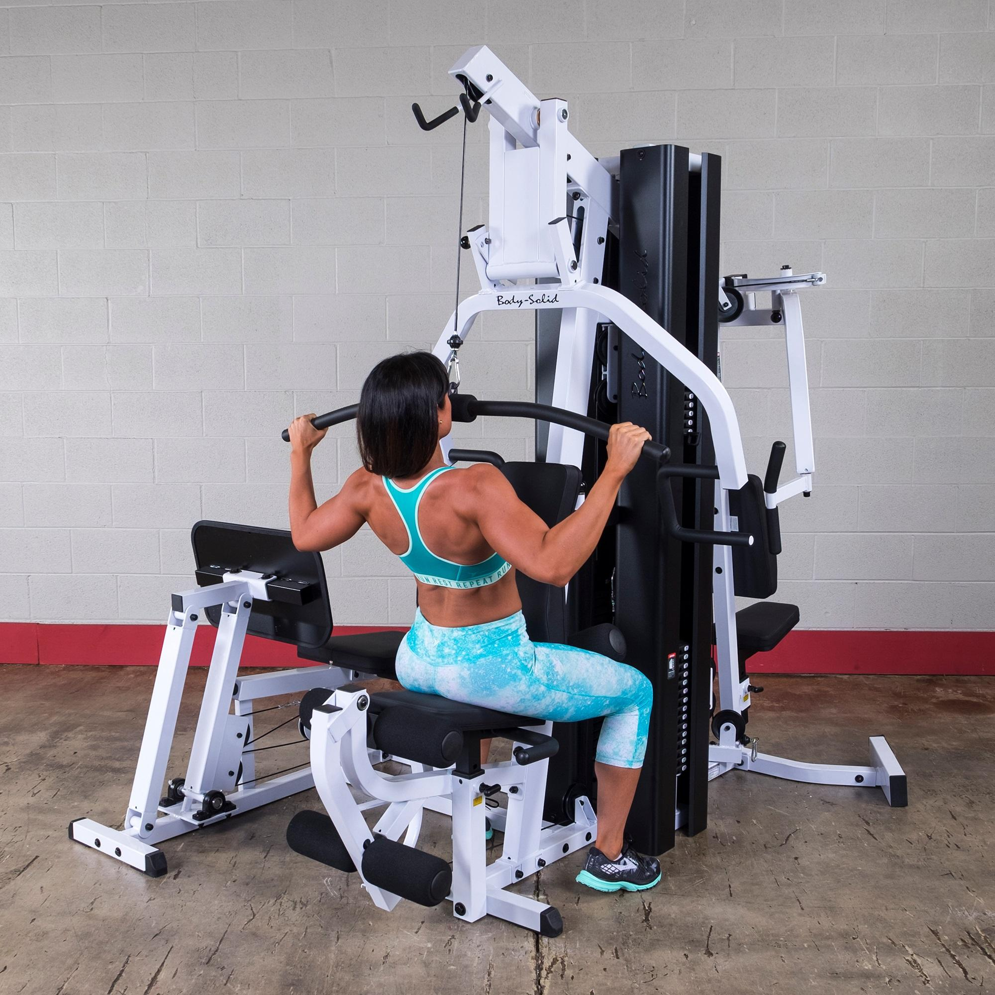 Hoist Gym H210: Body Solid EXM3000LPS Double Stack Home Gym, Home Gyms