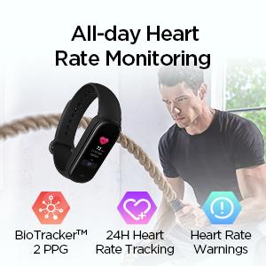 Monitoreo de frecuencia cardíaca durante todo el día