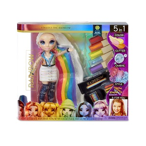 Rainbow High Salon Playset with DIY Washable Hair Color Foam Doll Not Included