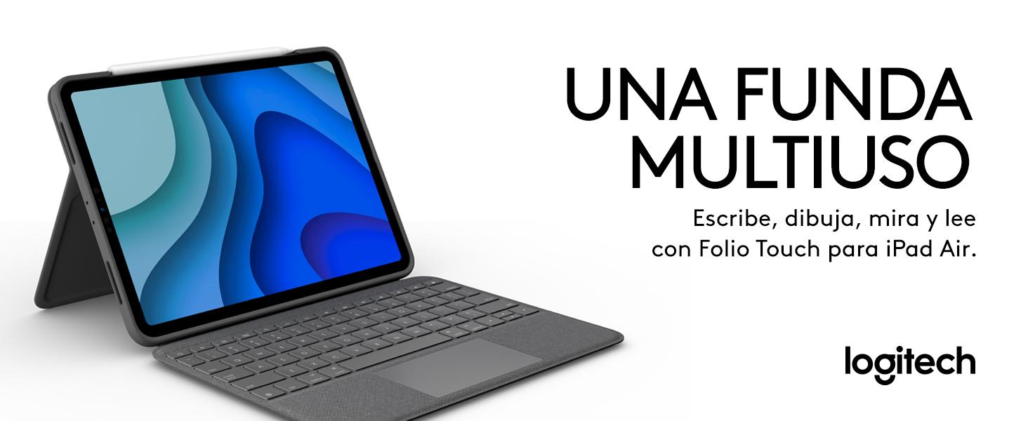Logitech Folio Touch iPad funda teclado con tecnología táctil Trackpad y con conexión instantánea Smart Connector iPad Pro 11 ...