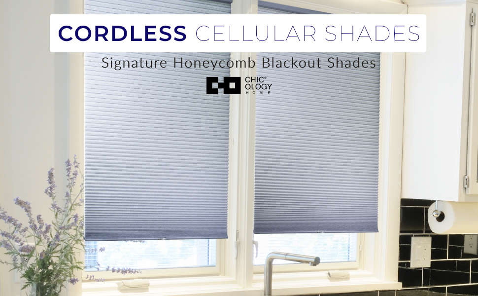 Amazon Com Chicology Cordless Cellular Shades Privacy Single Cell Window Blind 24 W X 48 H Morning Pebble Home Kitchen