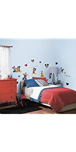 disney mickey and friends peel and stick wall decals, peel and stick wall decals