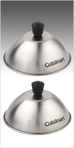 cheese melting dome stainless steel