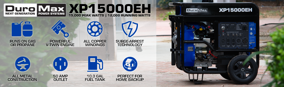 Duromax XP15000EH Home Backup Outdoor Life Portable Generator