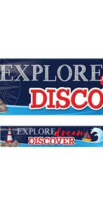 Nautical Explore Dream Discover Banner