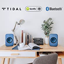KEF LSX features TIDAL, Spotify, and Bluetooth connectivity