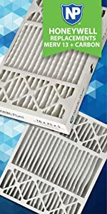 Honeywell Replacement Pleated MERV 12 Plus Carbon Ac Furnace Air Filter 4-3//8 Actual Depth Nordic Pure 20x25x5 Box of 1 20x25x5HPM12C-1