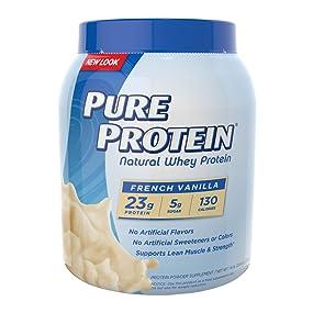 Pure Protein Natural Whey Powder - French Vanilla