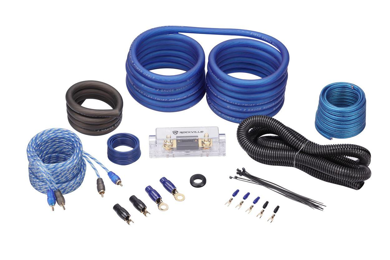 Amazon.com: Rockville RWK21 2 Gauge Amp Installation Kit ANL Fuse ...