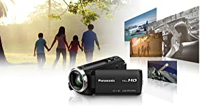 Panasonic HC-V720EG-K - Videocámara de 17.52 MP (Pantalla de 3