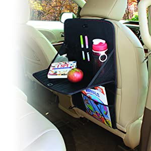 Rubbermaid Automotive Back Seat Organizer//Hanging Car Caddy with Folding Tray Table and Cup Holders