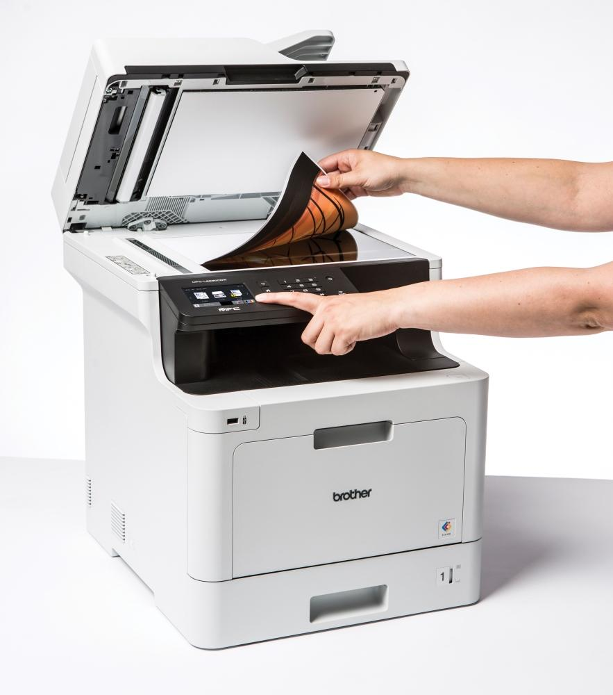 how to scan a document from brother printer to pc