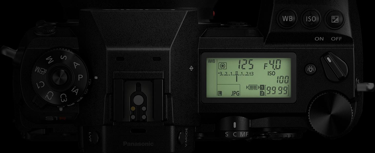 Panasonic LUMIX S1 DC-S1BODY DC-S1MK status LCD