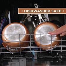 DISHWASHER SAFE, Gotham Steel,  COPPER HAMMERED COOKWARE