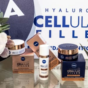 NIVEA Hyaluron Cellular Filler (2 x 50 ml), pack de cremas ...