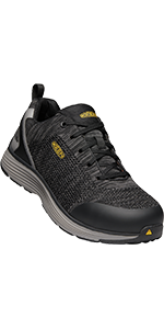 mens sparta low alloy aluminum toe esd safety footwear work shoe athletic non slip sneaker