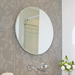 round bathroom wall mirrors beveled polished frameless wall mirror 20231