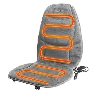 fe1b5a0dd Amazon.com  Wagan IN9438-2 12V Heated Seat Cushion with Lumbar ...