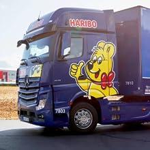 haribo quality sweets truck logistics fresh