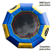 larger water trampoline jump surface