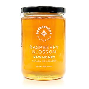 100% pure raw sustainably sourced premium honey Canada Canadian paleo non-gmo gluten-free raspberry