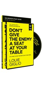 dont give the enemy a seat at your table study guide + dvd pack