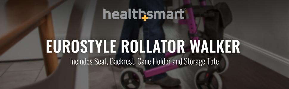 Amazon.com: Caminador andador de ruedas plegable de aluminio ...