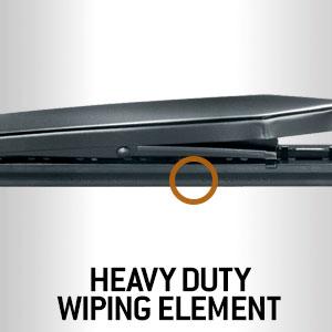 Heavy duty wiper rubber element