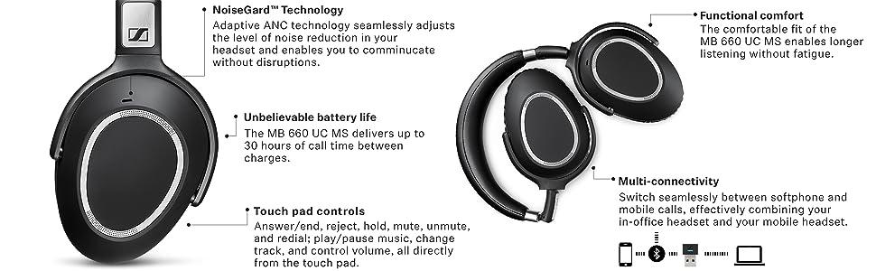 6047d4a577f over ear headset, senheiser over ear headphones, bluetooth headset, office  headset, pc