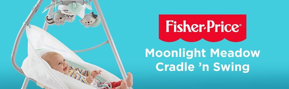 Fisher-Price Moonlight Meadow Cradle /'n Swing