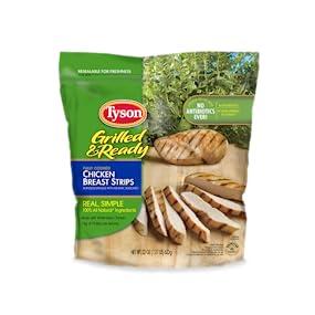 Tyson Grilled & Ready Chicken Breast Strips, 22 oz (Frozen ...