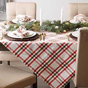 long desk white party check linen natural dresser macrame fabric small placemats manteles mesa