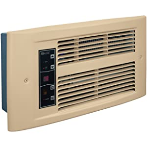 electric wall mounted heater bathroom garage thermostat cfm