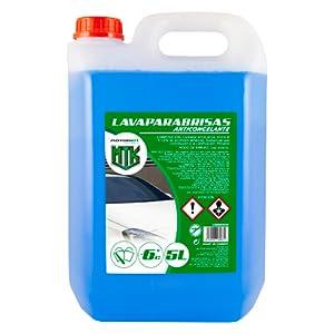 Lavaparabrisas Anticongelante -10% de Invierno, Azul, 5 litros