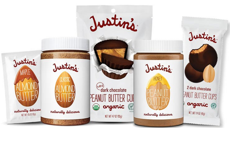 family of nut butter products