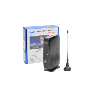 Digital Tuner DVB-T2 PNI TV901 Antena incluida, soporta hasta 999 Canales de TV, Reproductor Multimedia, Salida HDMI, VHF y UHF de Entrada